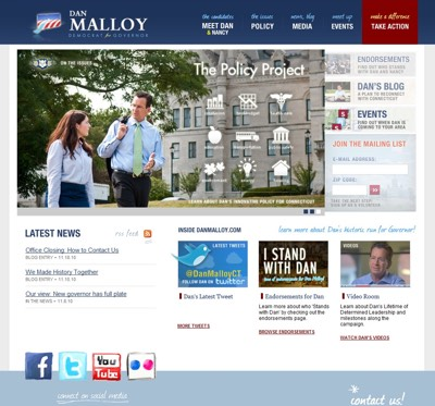 DanMalloy.com screenshots